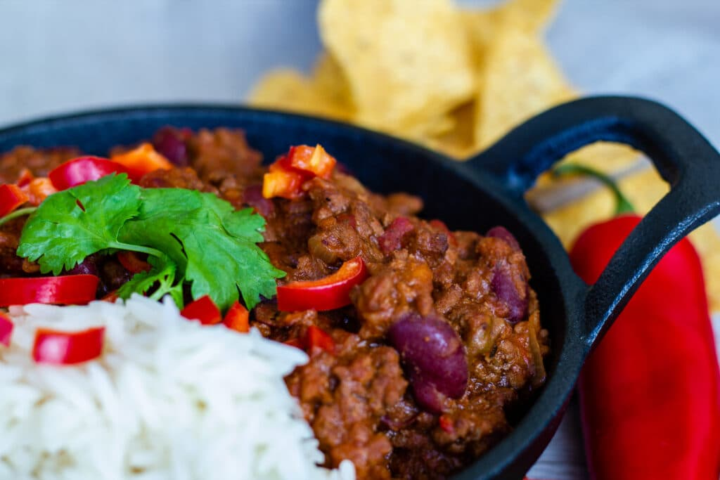 Close-up of Chilli con Carne