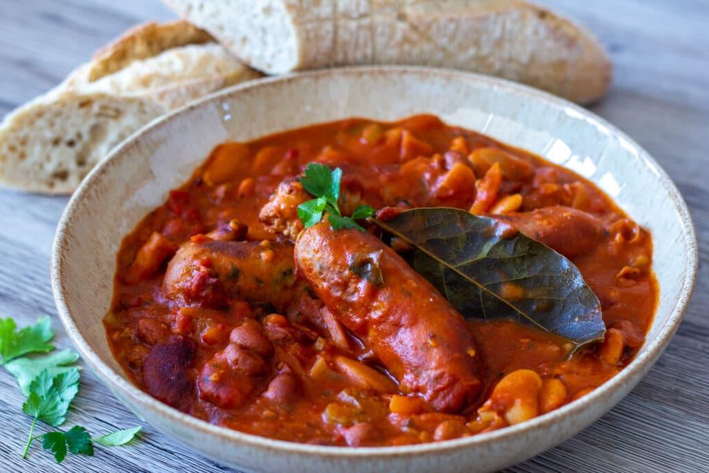 Slow Cooker Sausage Cassoulet