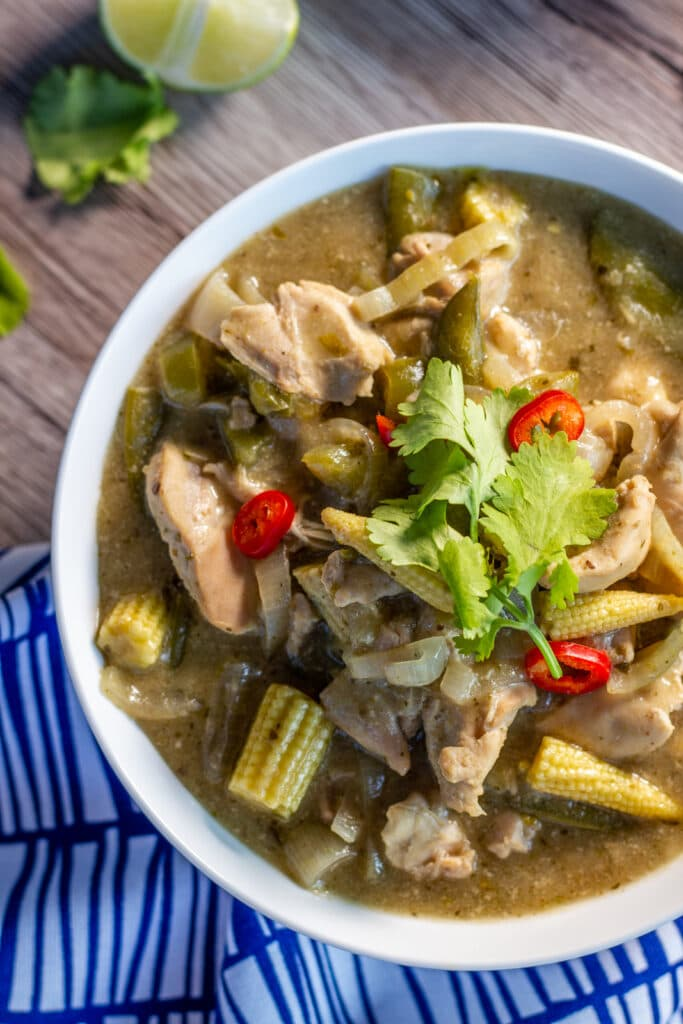 Slow Cooker Thai Green Curry and Lime in a bowl