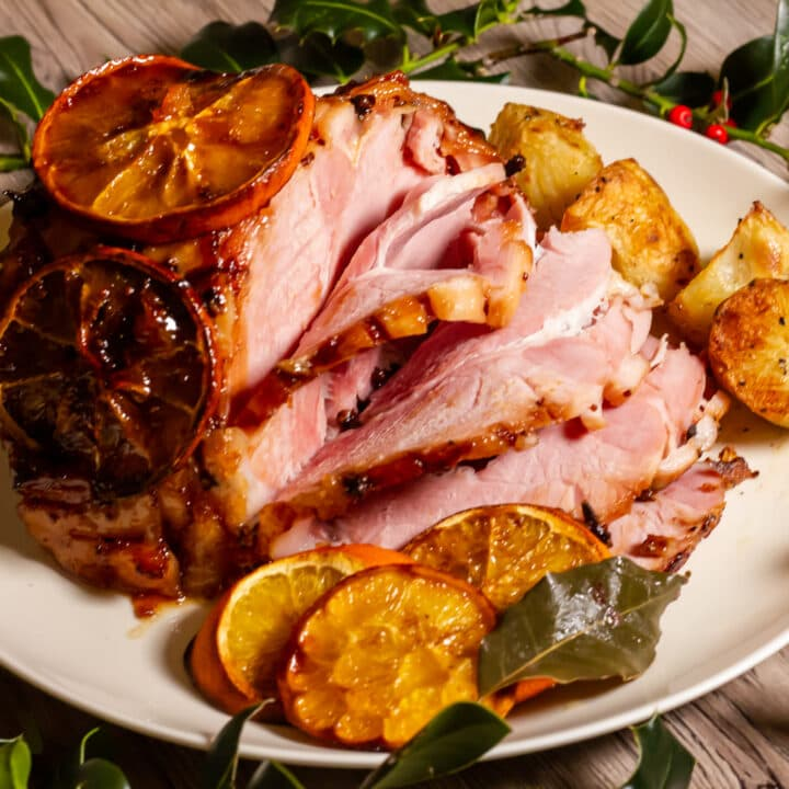 Slow Cooker Cranberry and Orange Gammon