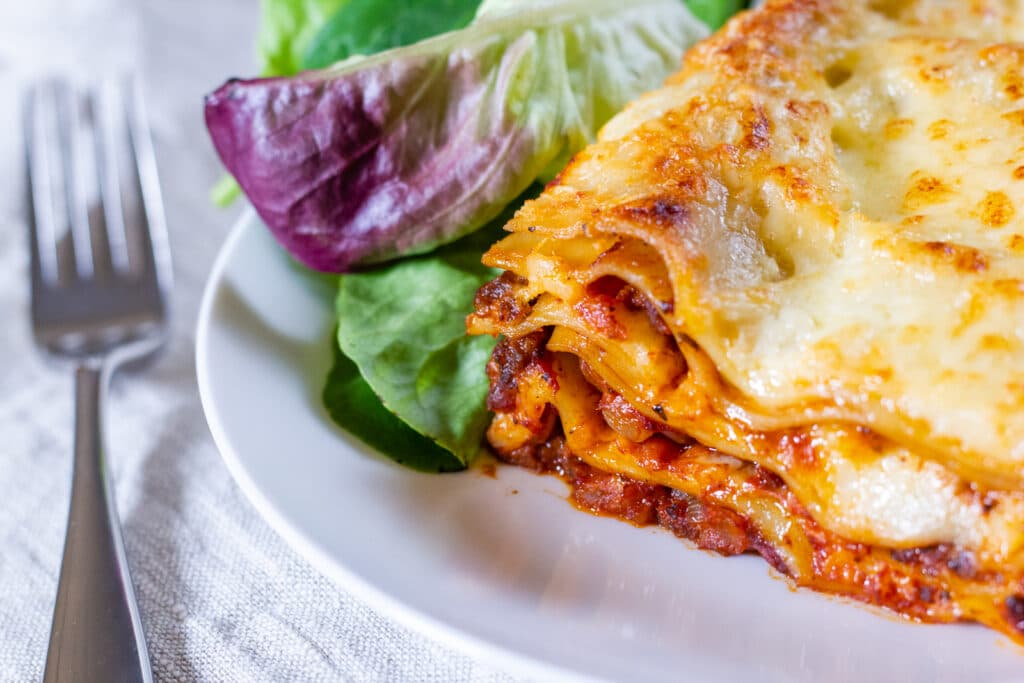 Crockpot lasagne layers