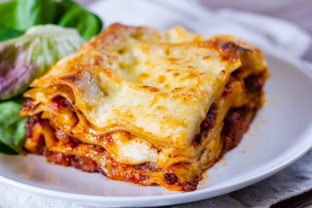 Slow Cooker Lasagne and Salad.