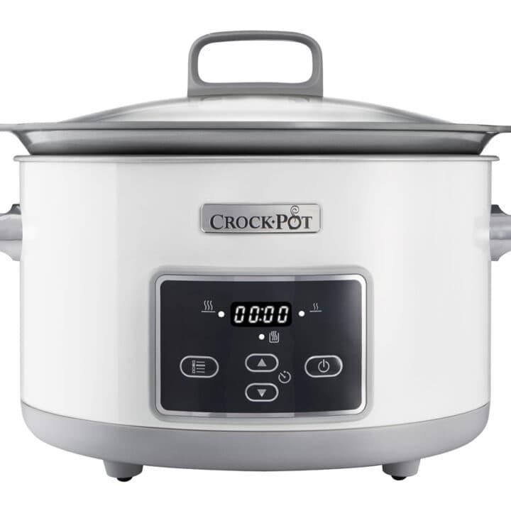 Front view of a Crock-Pot 5L DuraCeramic Saute Slow Cooker CSC026