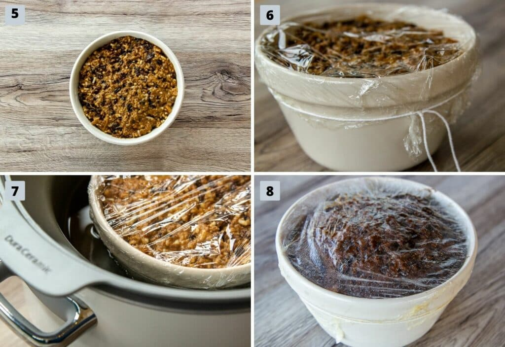 Steps to make Slow Cooker Christmas Pudding