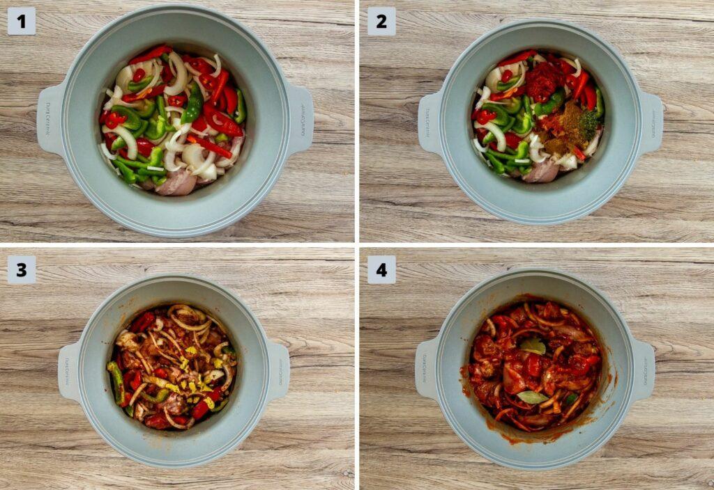 Steps to make crockpot chicken curry